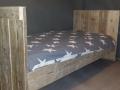 bed oud steigerhout 90 x 200