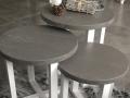 tafeltjes rotsgrijs en wit