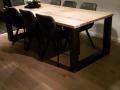 Eiken tafel met Stalen onderstel 2