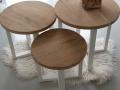 ronde tafeltjes eikenhout