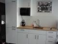 witte keuken geplaatst