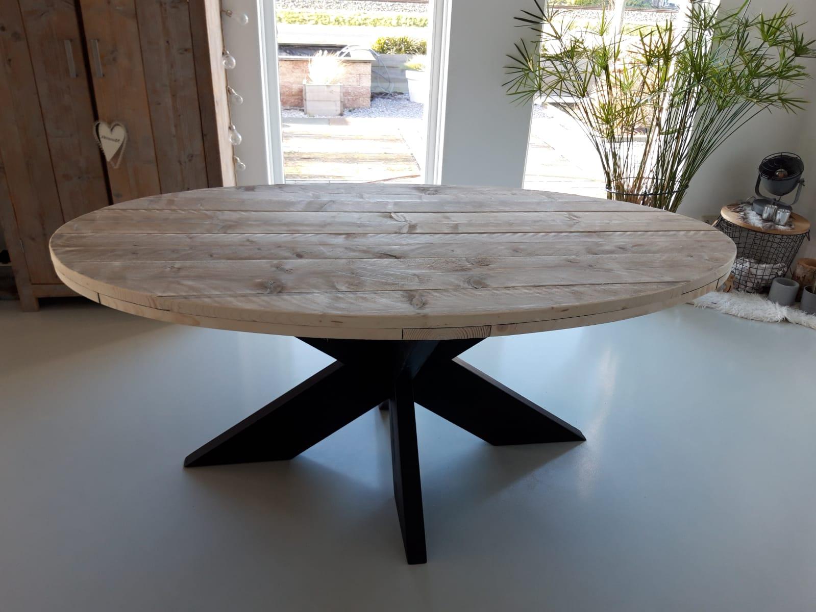 ovale-tafel-steigerhout-met-zwarte-kruispoot-mat-1-190x100