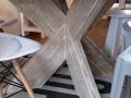Ronde tafel kruispoot plat