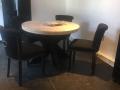ronde tafel zwarte kruispoot
