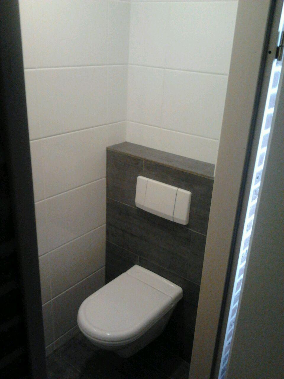 Toilet opnieuw betegeld