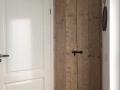 Nieuwe deur meterkast van oud Steigerhout