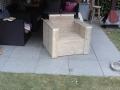loungestoel oud steigerhout